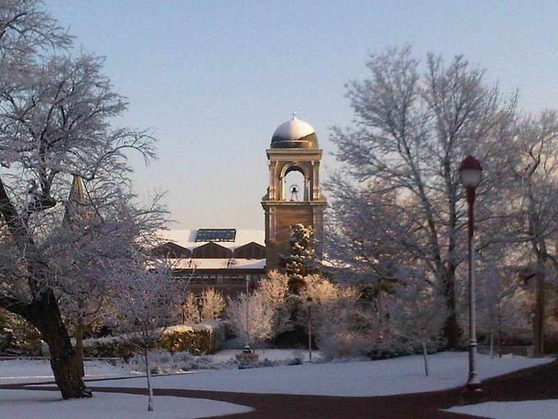 Buchtel Tower Snow