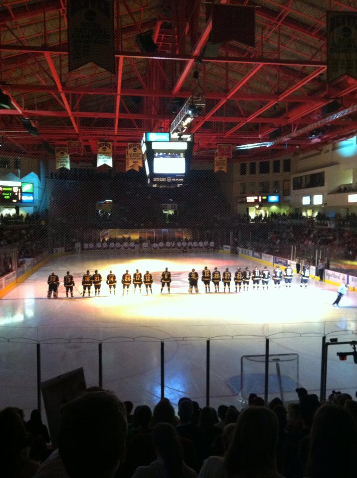 Start of Hockey Game