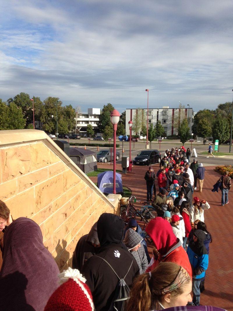 Hockey ticket line
