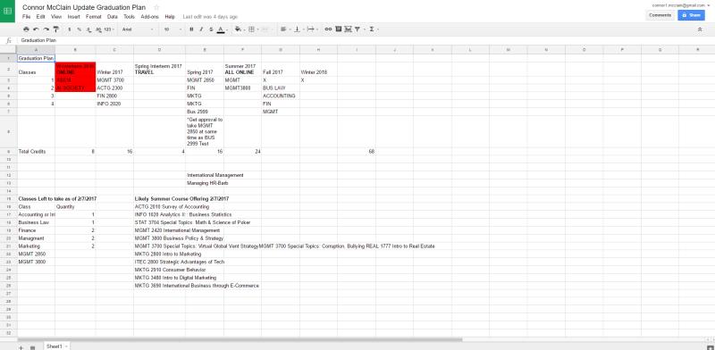 Connor McClain Update Graduation Plan   Google Sheets